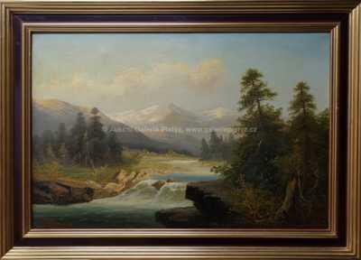 Adolf Kaufmann - Alpská řeka