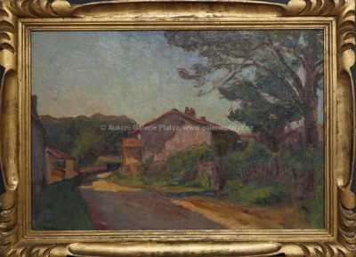 Autor neurčen - Zarostlé domky