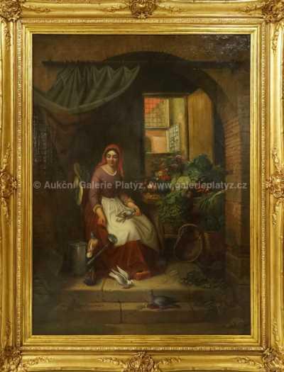 Albert Tschautsch - Dívka u okna
