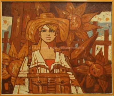 Ivan Sedliský - Dívka se slunečnicemi