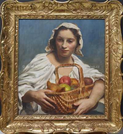 Vladimír Stříbrný - Dívka s ovocem