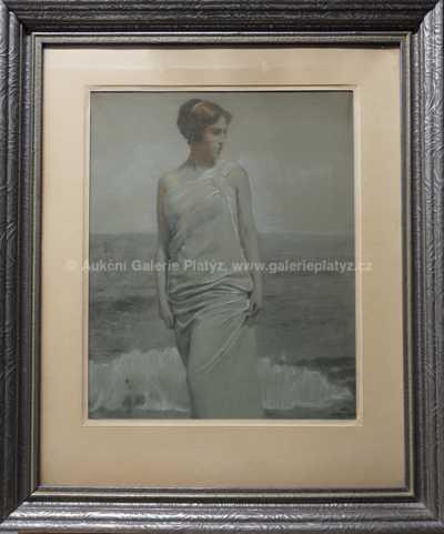 Adolf Wiesner - Dívka u moře