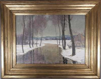 Alois Kalvoda - Řeka v zimě