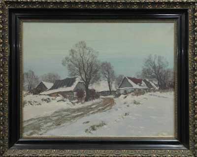Karel Schadt - Vesnička v zimě