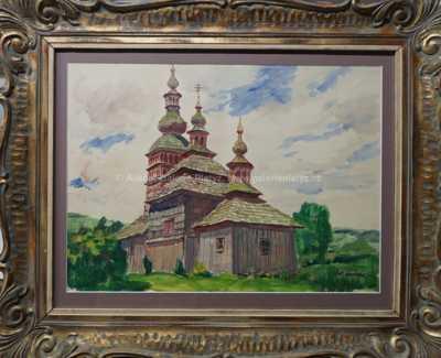 Antonín Hudeček - Roubený kostelík
