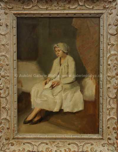 Josef Multrus - Dívka s knihou