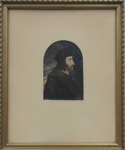 Antonín Waldhauser  - Portrét muže s kožešinou