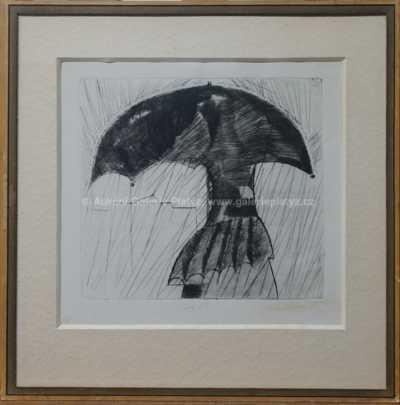 František  Tichý - Muž s deštníkem