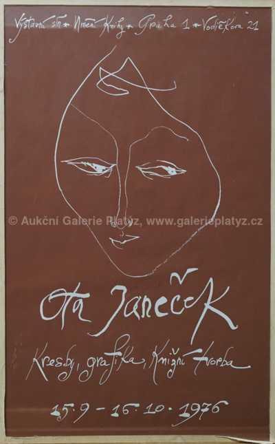 Ota Janeček - Návrh plakátu k výstavě