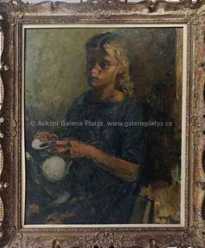 Gustave Camus - Dívka s konvičkou