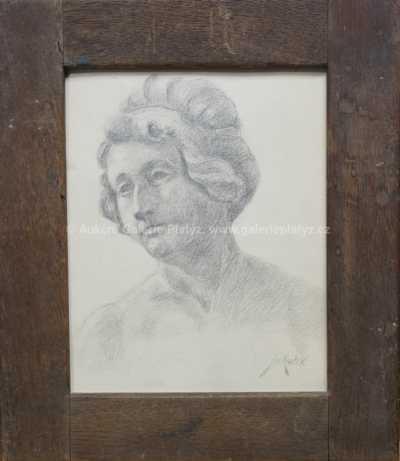 František Jakub - Secesní portrét