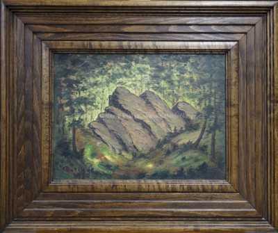 František Drtikol - Skála v lese