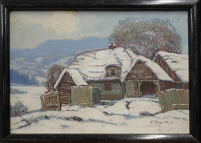 Antonín  Augusta - Roubenka pod sněhem