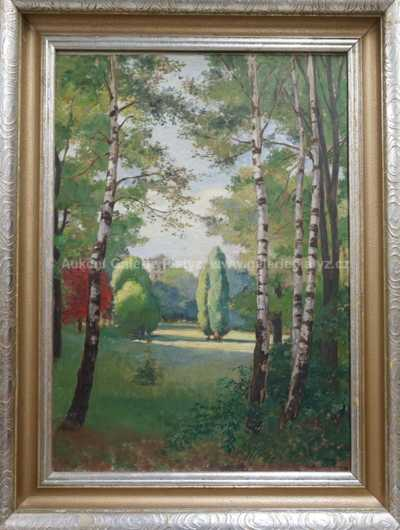 Hugo Charlemont - Pohled do zámeckého parku