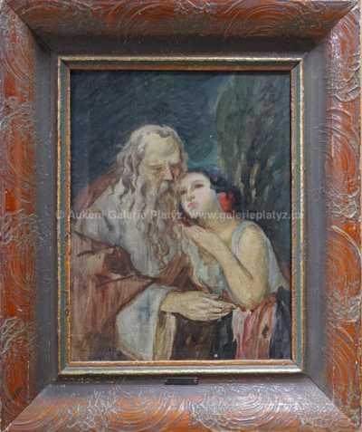 Jan  Dědina - Stařec a dívka