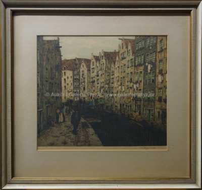 František Tavík Šimon - Starý průplav v Amsterdamu