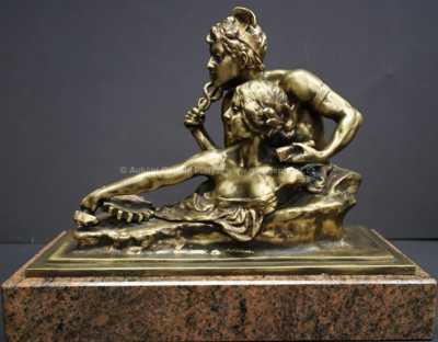 Andor Ruff - Bůh Merkur a bohyně a Carmenta