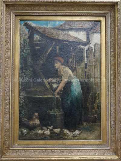 Nesignováno - Dívka u studny