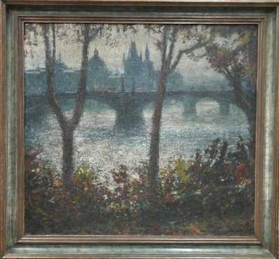 František Líbal - Pohled na Staré Město