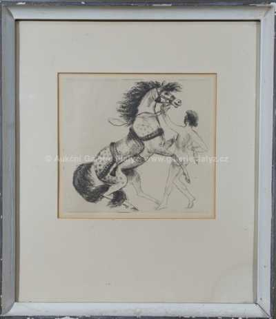 Antonín Procházka - Jezdec s koněm
