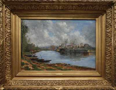 Stanislas  Lépine - Loďky na řece