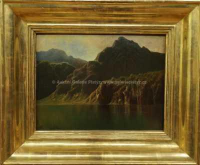 August Bedřich Piepenhagen - Horská krajina s jezerem