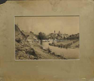 Karel Liebscher - Městečko s řekou