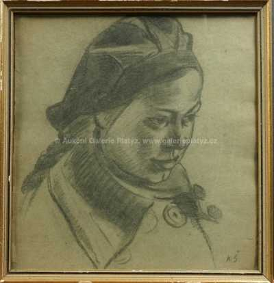 Karel Špillar - Dívka v kloboučku