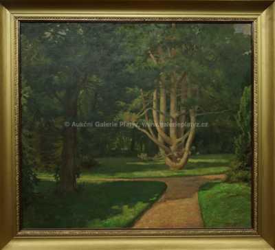 Ferdinand Adámek - V parku