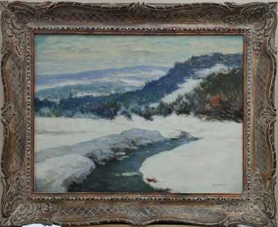 Antonín Hudeček - Zimní potůček
