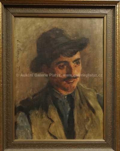 Autor neurčen - Muž v klobouku