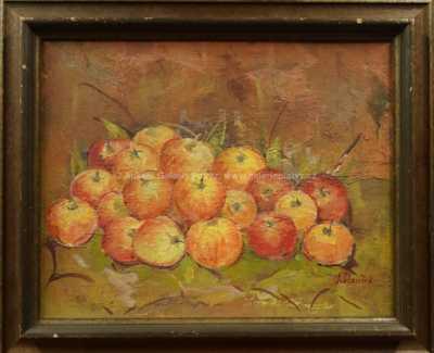Jan Slavíček - Zátiší s jablky
