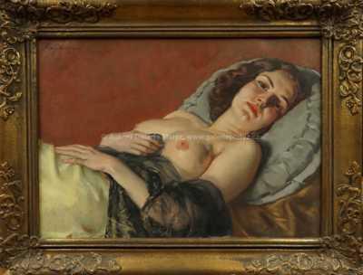 Gustav Sýkora - Ležící dívka