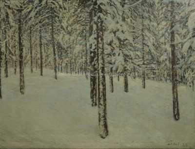 František Líbal - Zasněžený les
