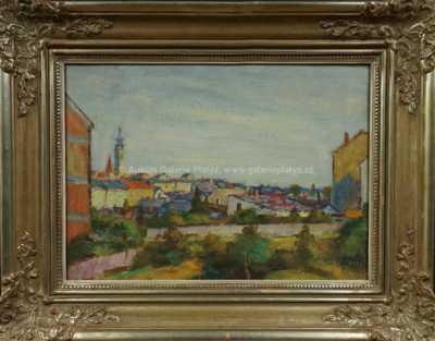 Vincenc Beneš - Pohled na město Písek