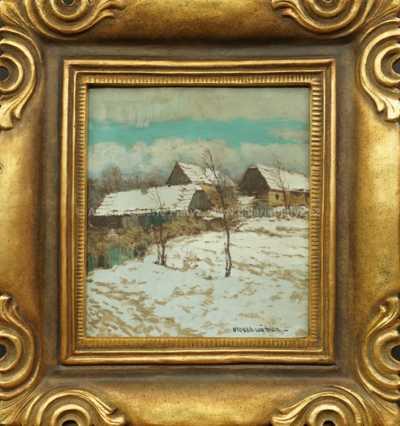 Otakar Hůrka - Roubenky v zimě