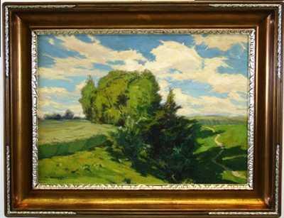 Alois Kalvoda - Stromy v polích