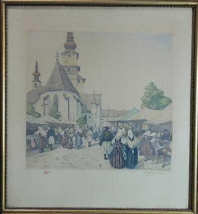 František Tavík Šimon - Trh ve Zvolenu