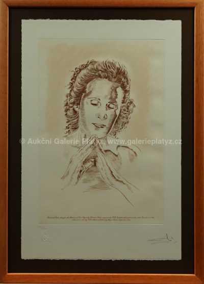 Salvador Dalí - Portrét Galy