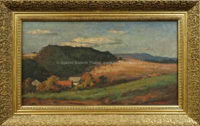 František Michl - Domky v krajině