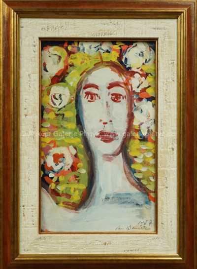 Jan  Bauch - Portrét mezi květinami