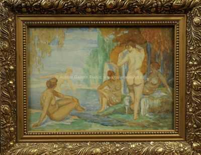 Karel Špillar - Při koupeli