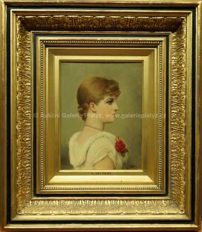 Alfréd Seifert - Dívka s květinou