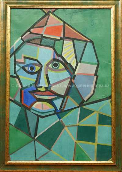 František Stolař - Kubistická hlava