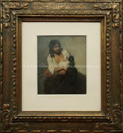 Beneš (Benedikt Julius) Knüpfer - Matka s dítětem