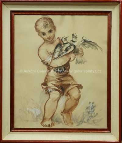 Antonín Procházka - Dítě s holubicemi