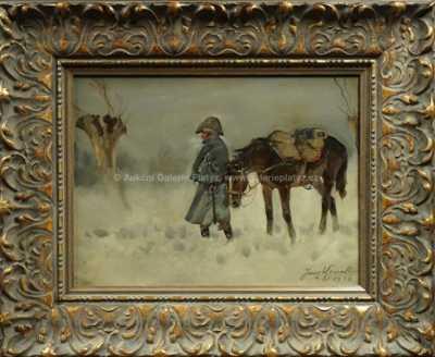 Jerzy Kossak - Napoleonský voják