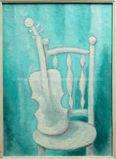 Židle s houslemi
