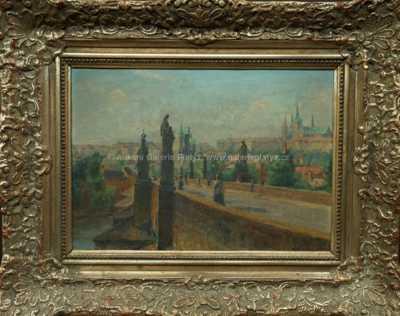 Josef Štefan Maleček - Pohled z Karlova mostu