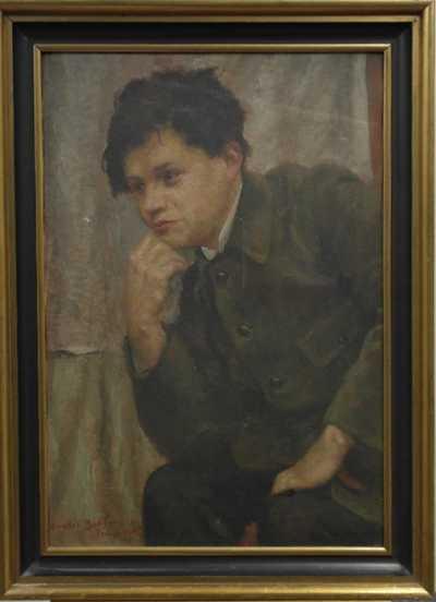Ivanka Bukovac - Portrét Václava Kovárny, učitele Ivanky Bukovac